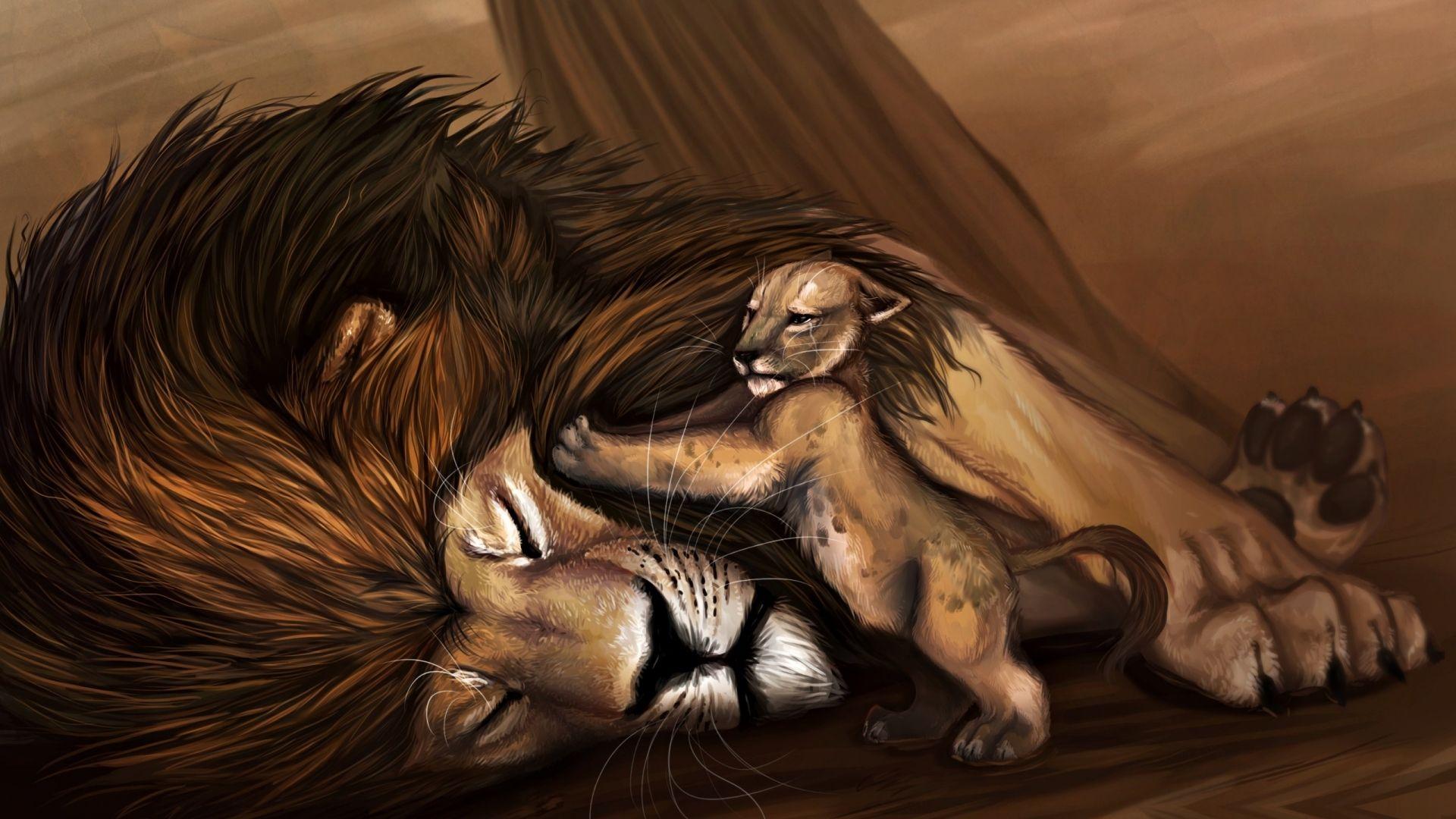 Lion Cartoon Wallpaper