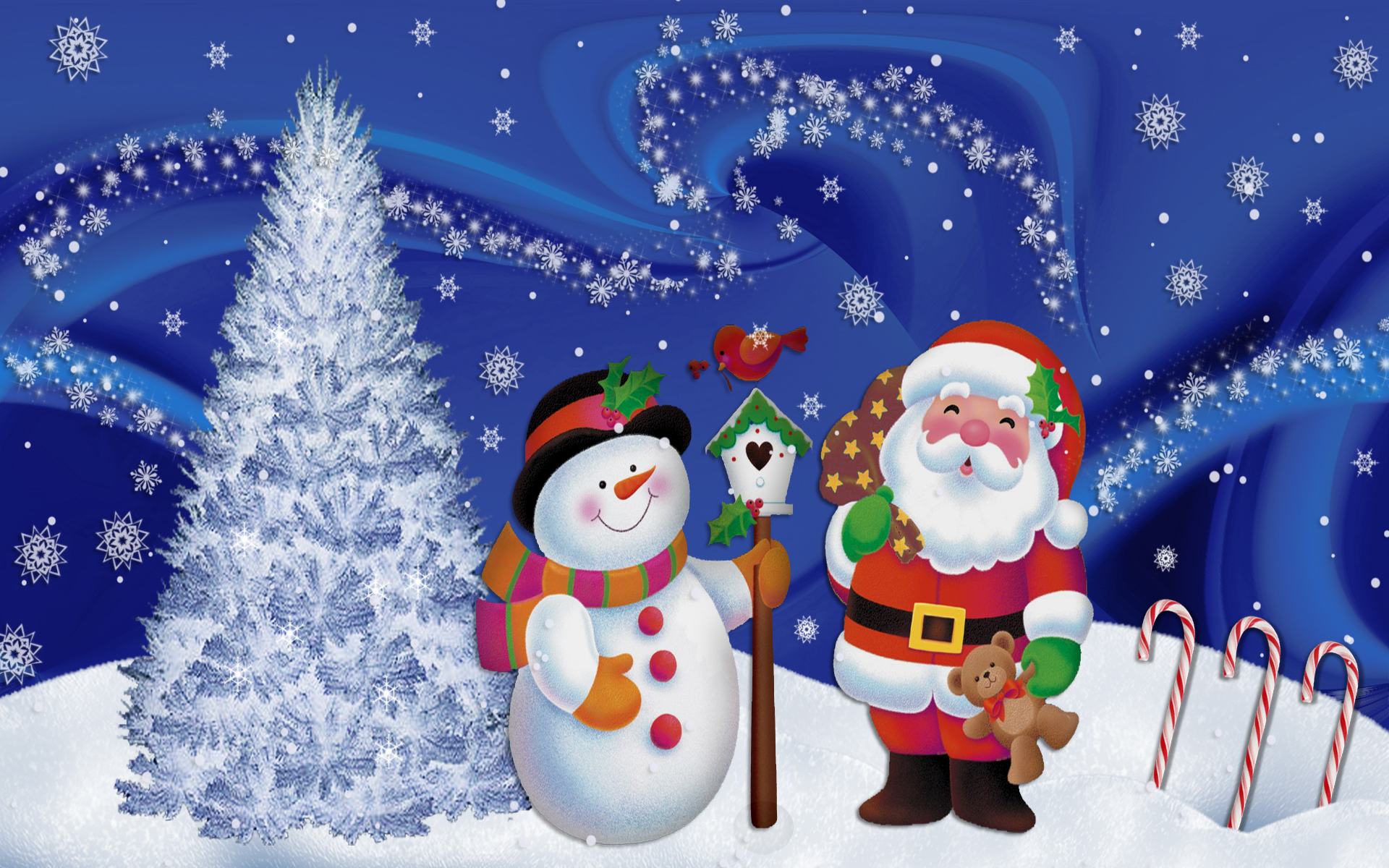 Cute Animated Merry Christmas Wallpapers – Happy Holidays!
