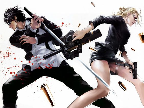 Action Blood Stain Gun Riffle Katana Anime HD Wallpaper Desktop PC