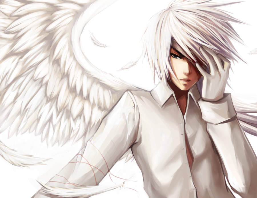 Anime Angel Boy Wallpaper - Cartoon Boys with Wings