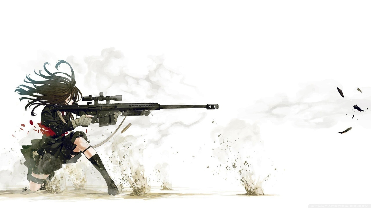 Anime Sniper HD desktop wallpaper : High Definition : Fullscreen