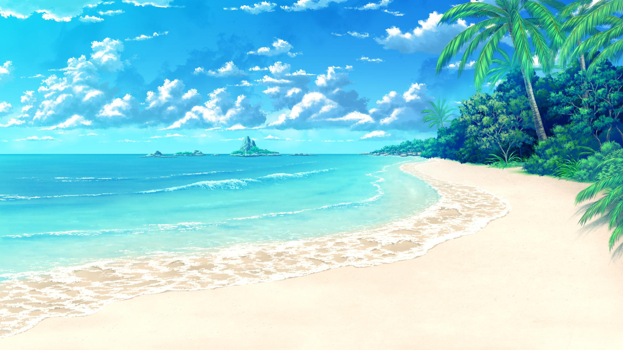 Anime Beach Background Page 1