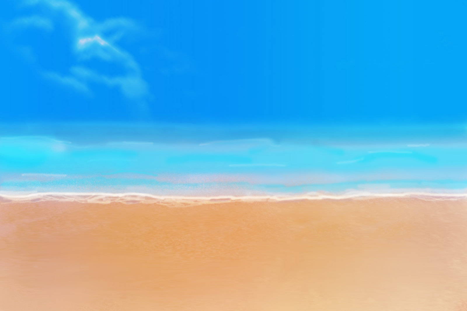 DeviantArt: More Like Anime Style Background - Beach by FireSnake666
