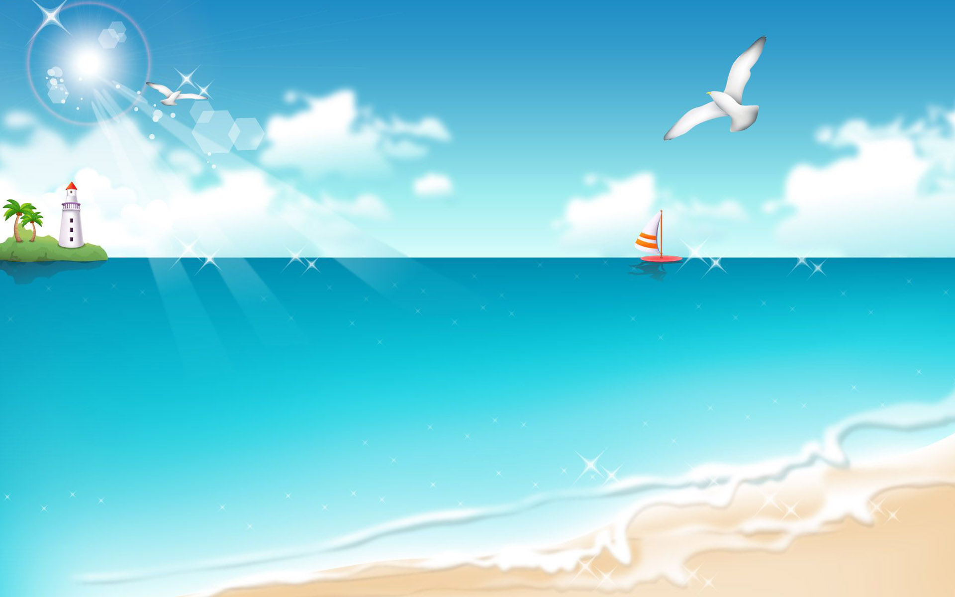 Anime beach clipart - ClipartFox