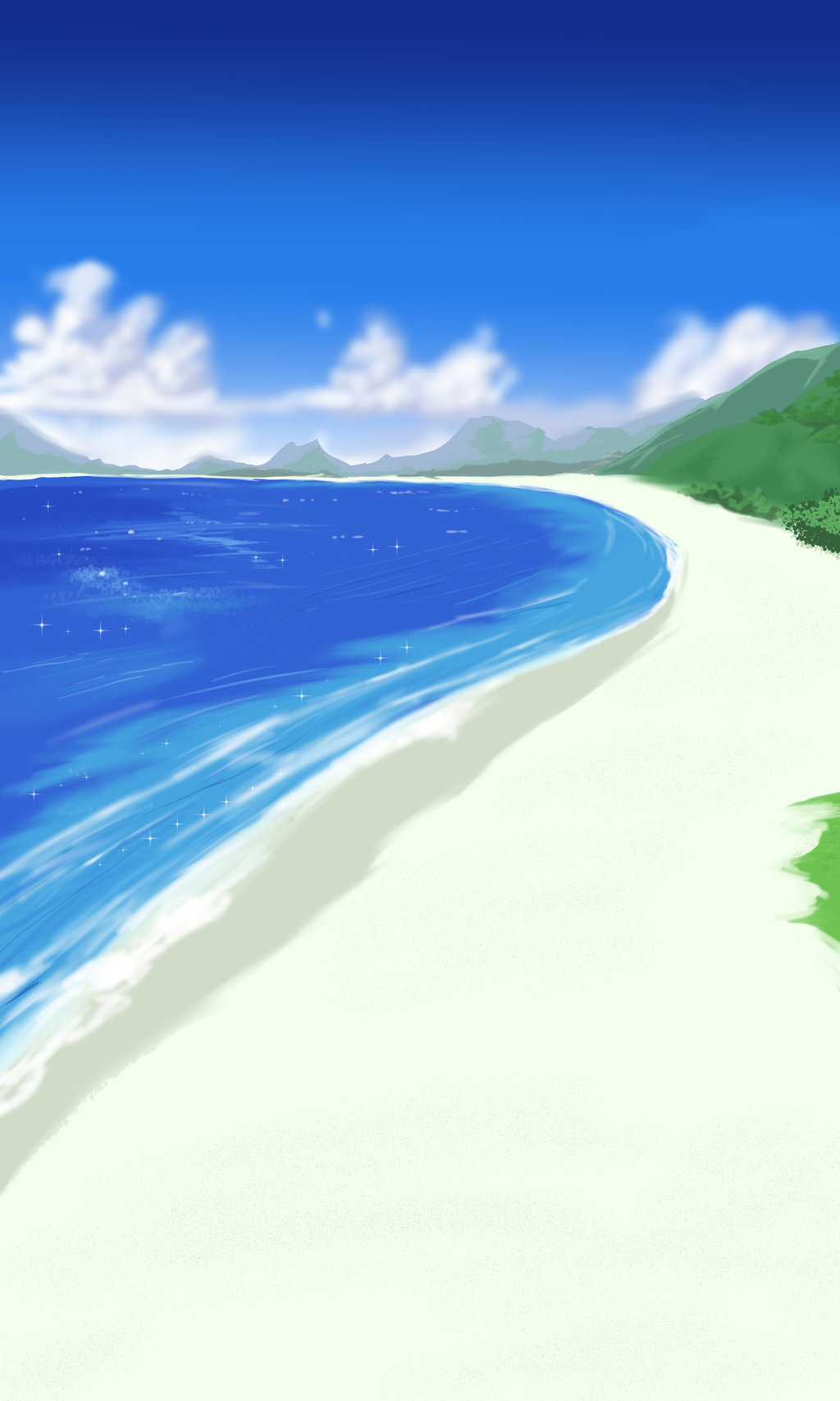 Anime Style Beach Background and Path by wbd on DeviantArt