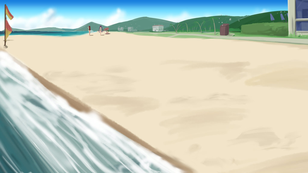 Anime-Style Beach Background Yet Again by wbd on DeviantArt