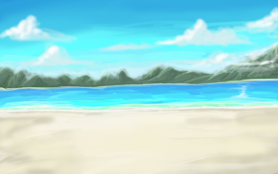 DeviantArt: More Like Another Anime Beach Background by wbd