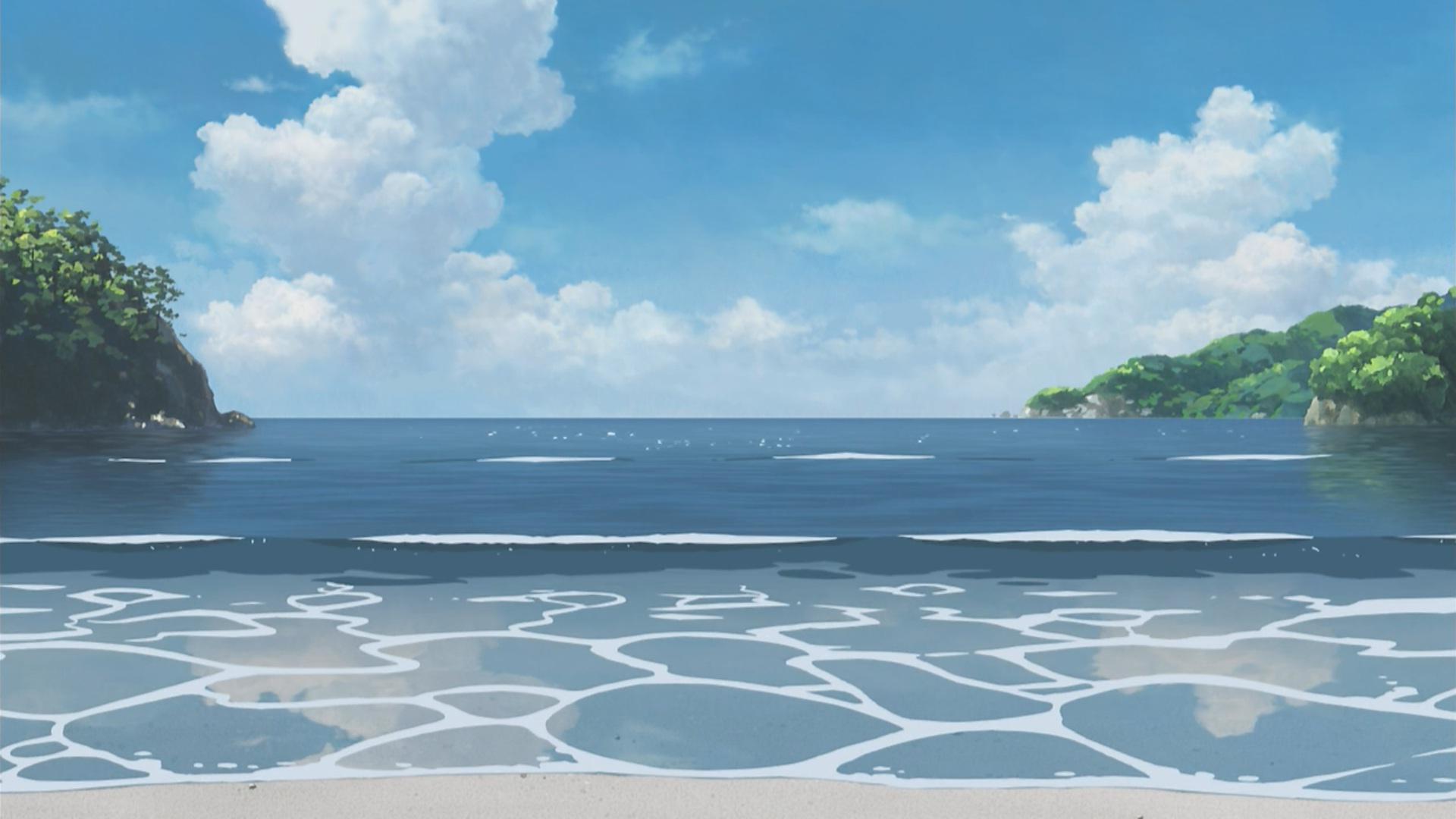 Anime Beach Scenery Wallpaper 6379 1920x1080 - uMad com
