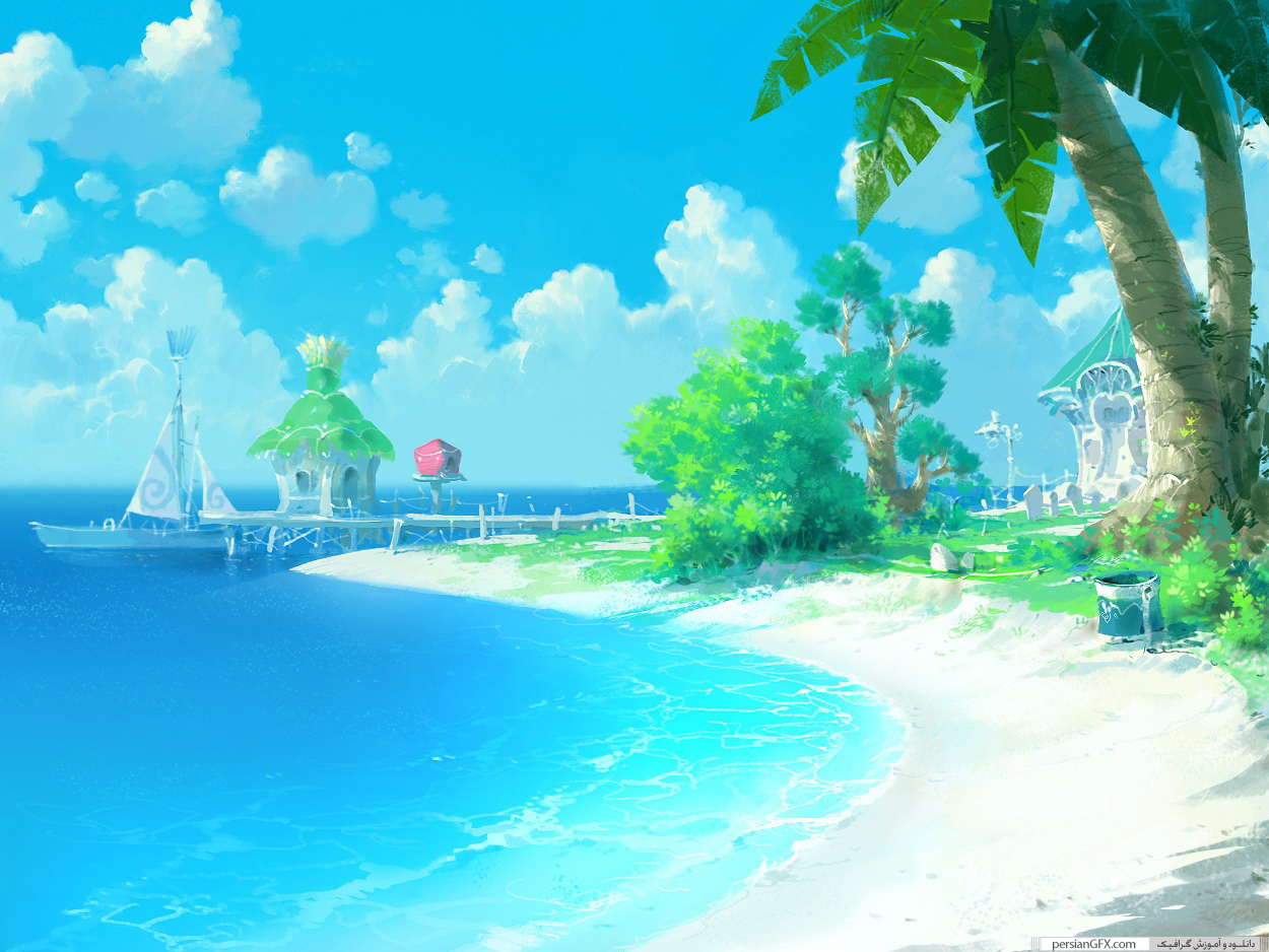 Beach Cell Phone Wallpaper Anime – Free wallpaper download