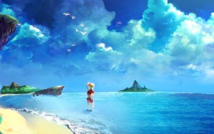 video games beach chrono cross square enix anime girls 1913x1200
