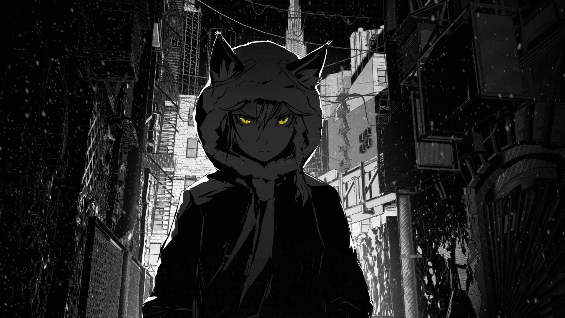 Anime Black Wallpaper