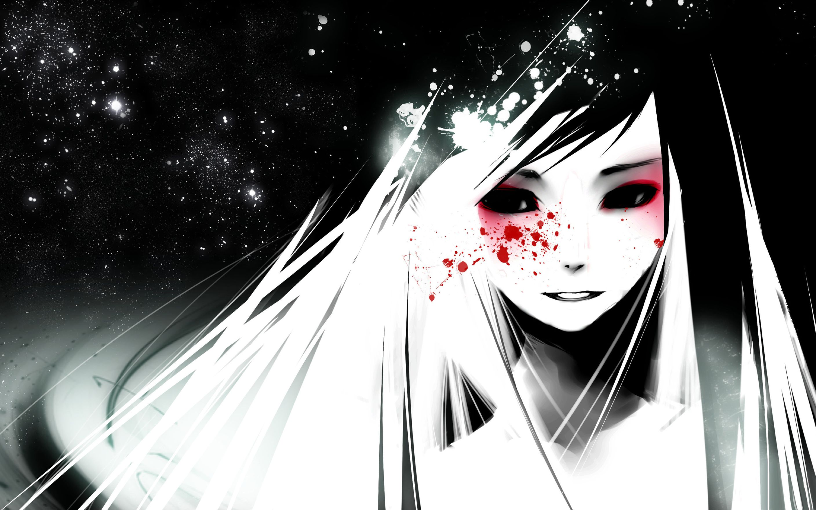 Anime Black and White Wallpaper: Desktop HD Wallpaper - Download