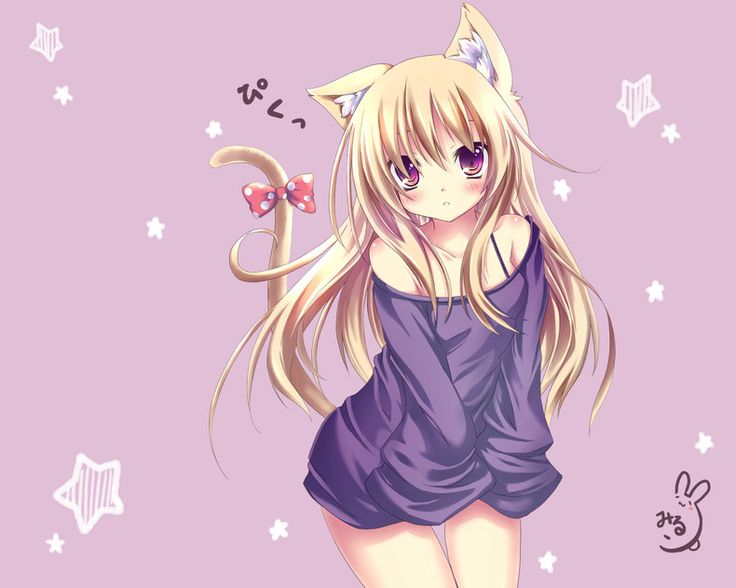 Cute Anime Cat Girl | Home » Gallery » Anime Girls » Wallpapers