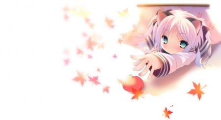 Cute cat girl wallpaper - Other & Anime Background Wallpapers on