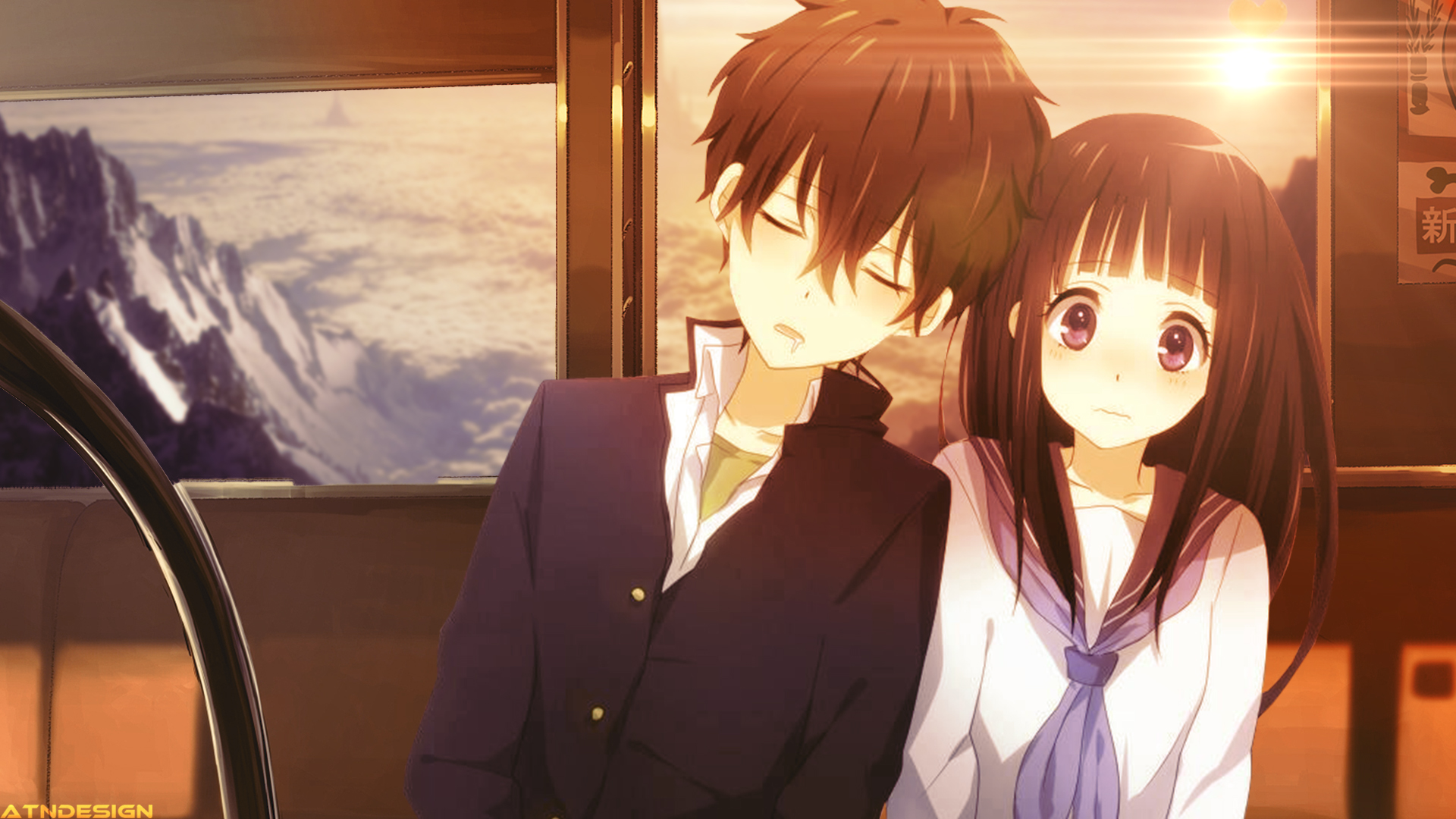 Cute Anime Couple Desktop Wallpapers | PixelsTalk Net