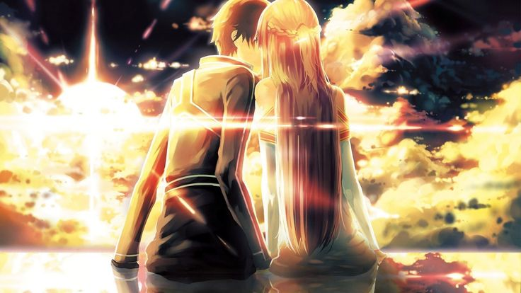 Anime Couple Kissing HD Wallpaper #2516 Wallpaper | art