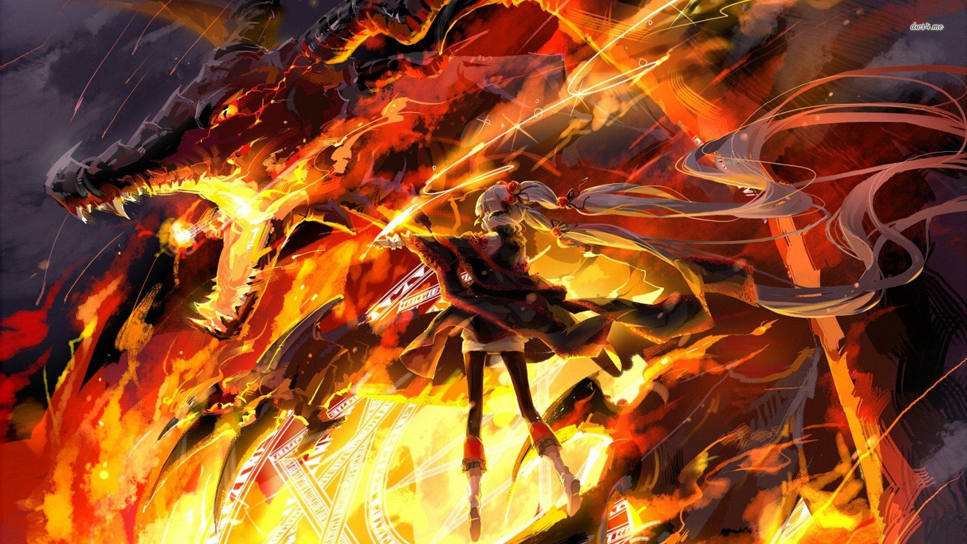 Fire Dragon Wallpaper