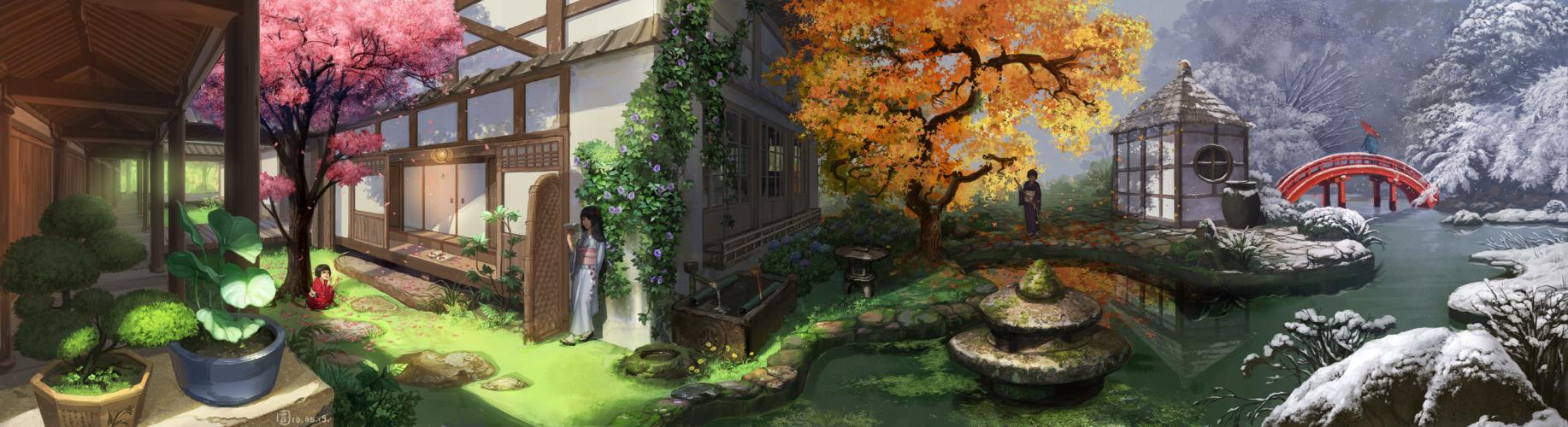 anime dual monitor wallpaper | Tumblr