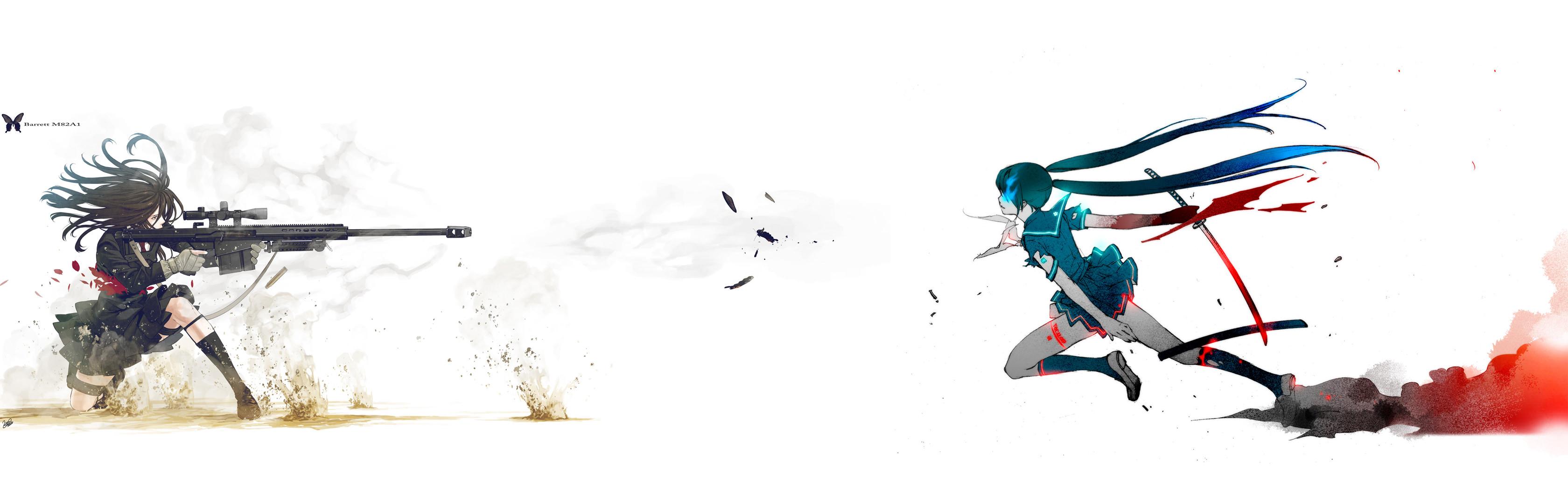 Anime Dual Monitor Wallpaper - WallpaperSafari