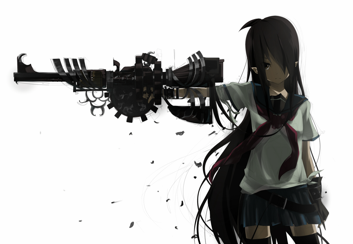 Girl With Gun Wallpaper - WallpaperSafari