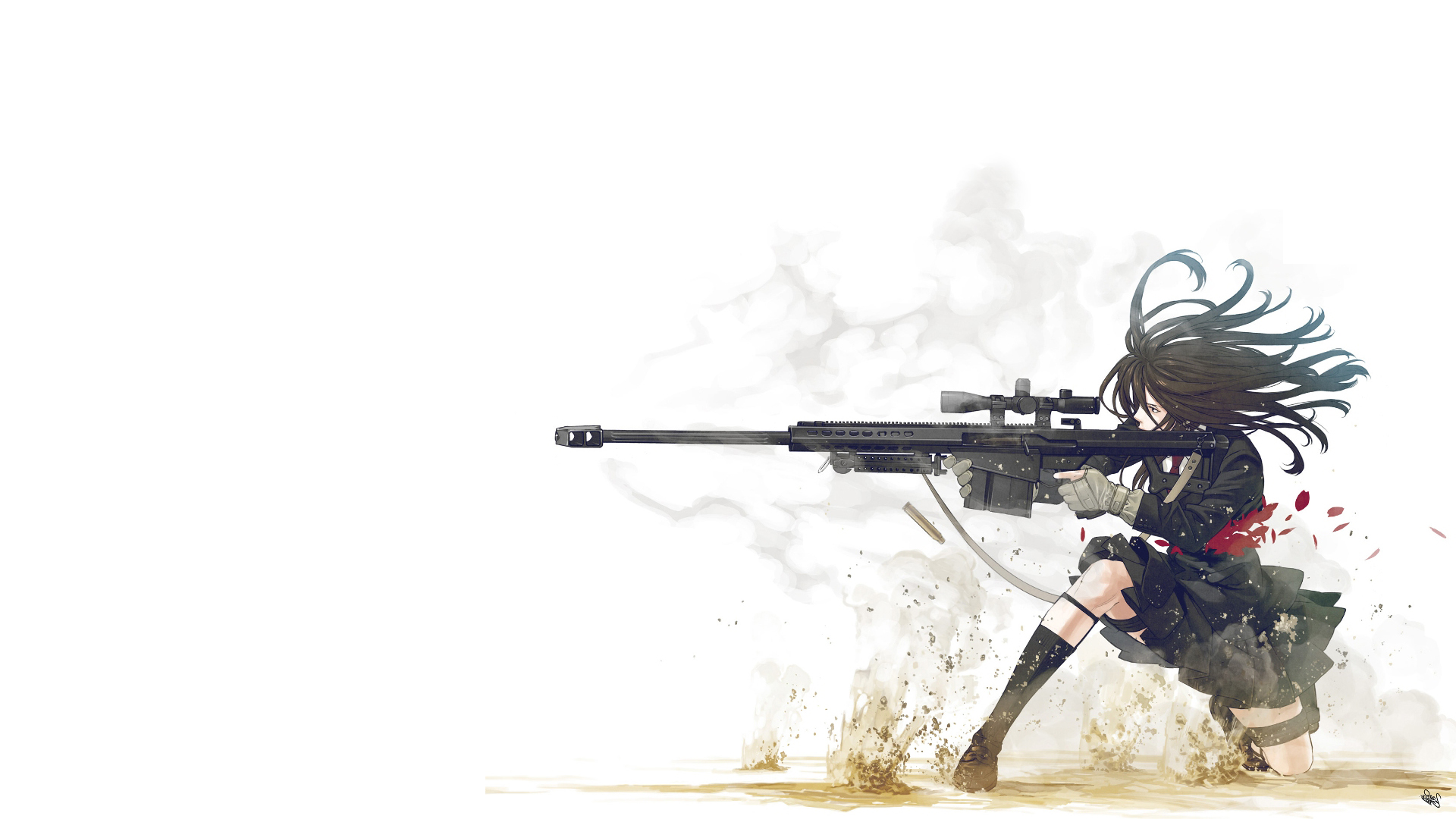 Anime Girl With Gun HD Wallpaper 1920x1080 | girl | Pinterest