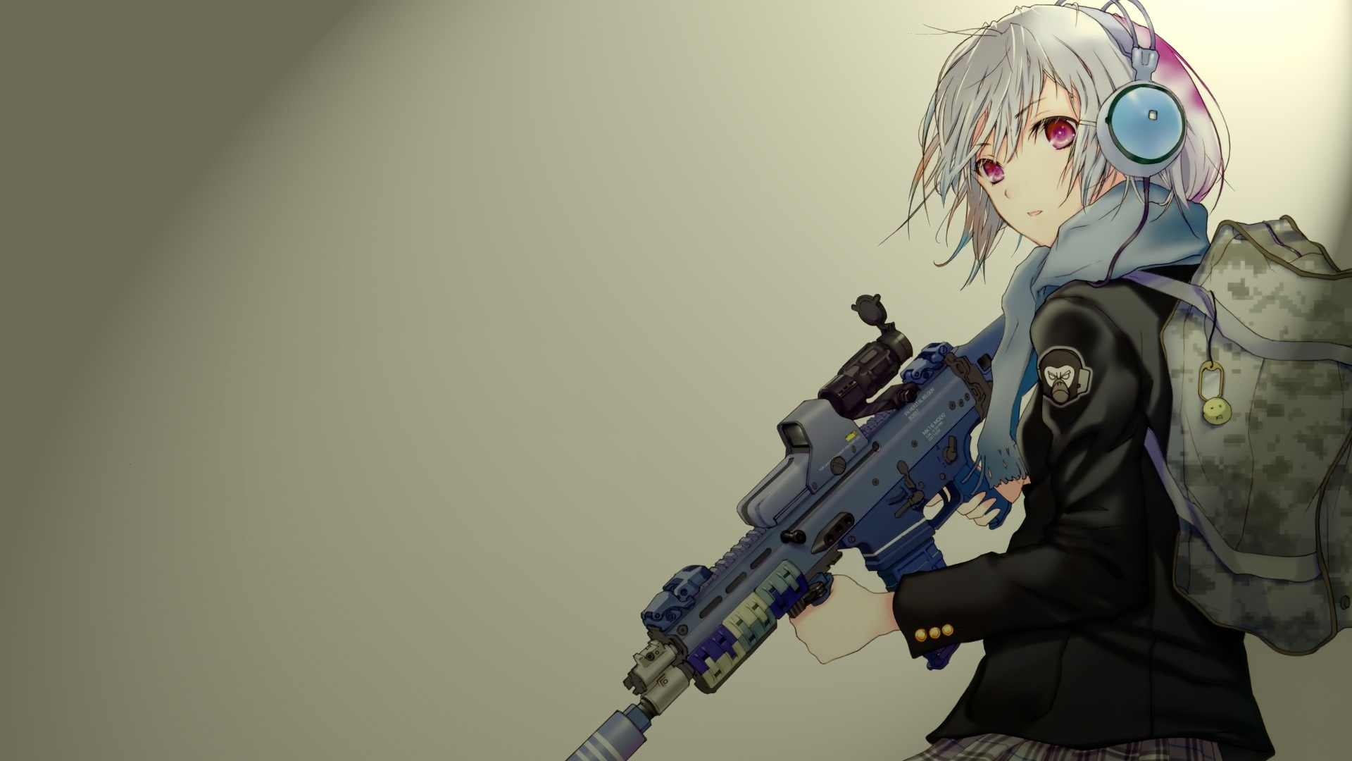 Collection of Anime Girls With Guns Wallpaper on HDWallpapers