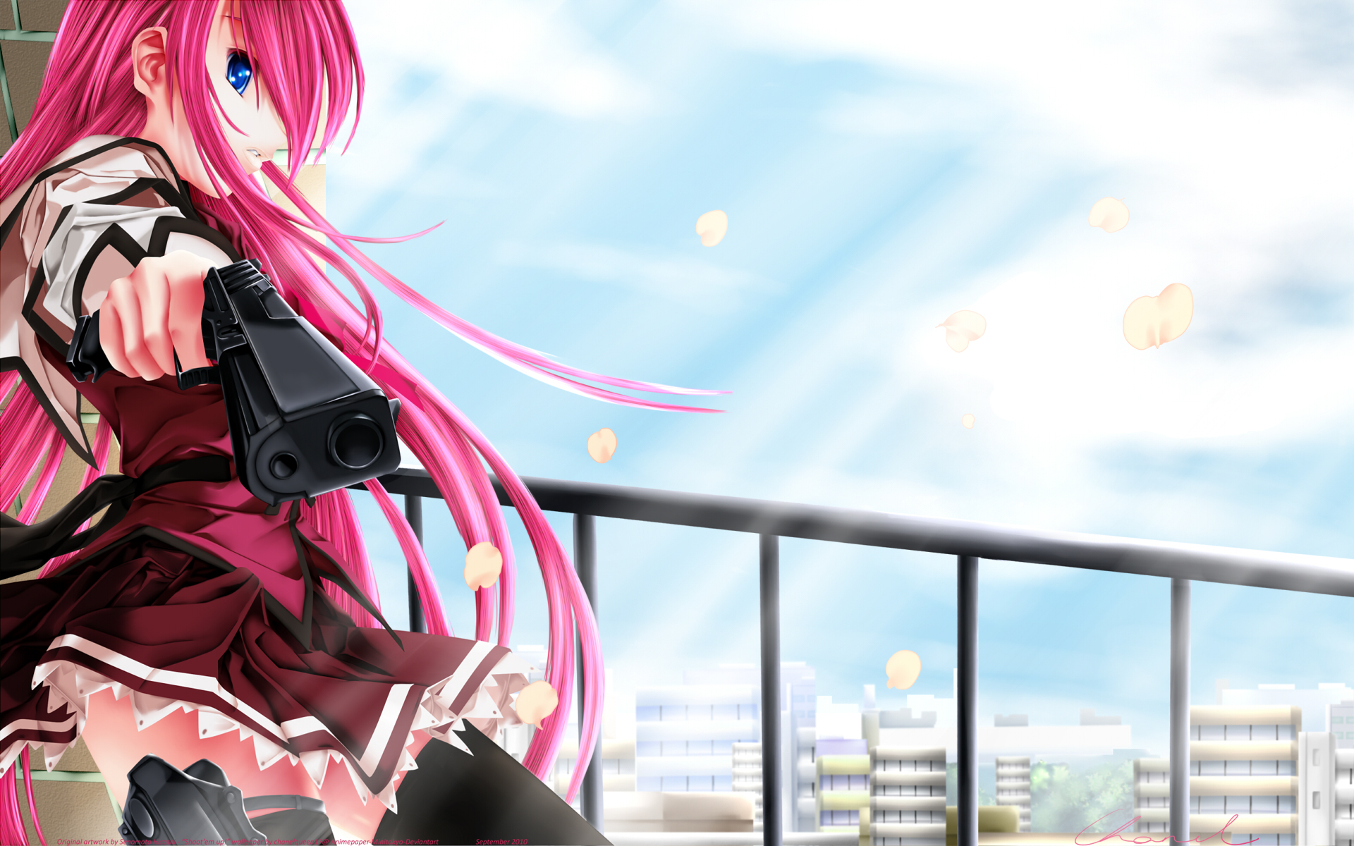 Anime Girl with Gun HD Wallpaper | anime | Pinterest | Guns, Anime