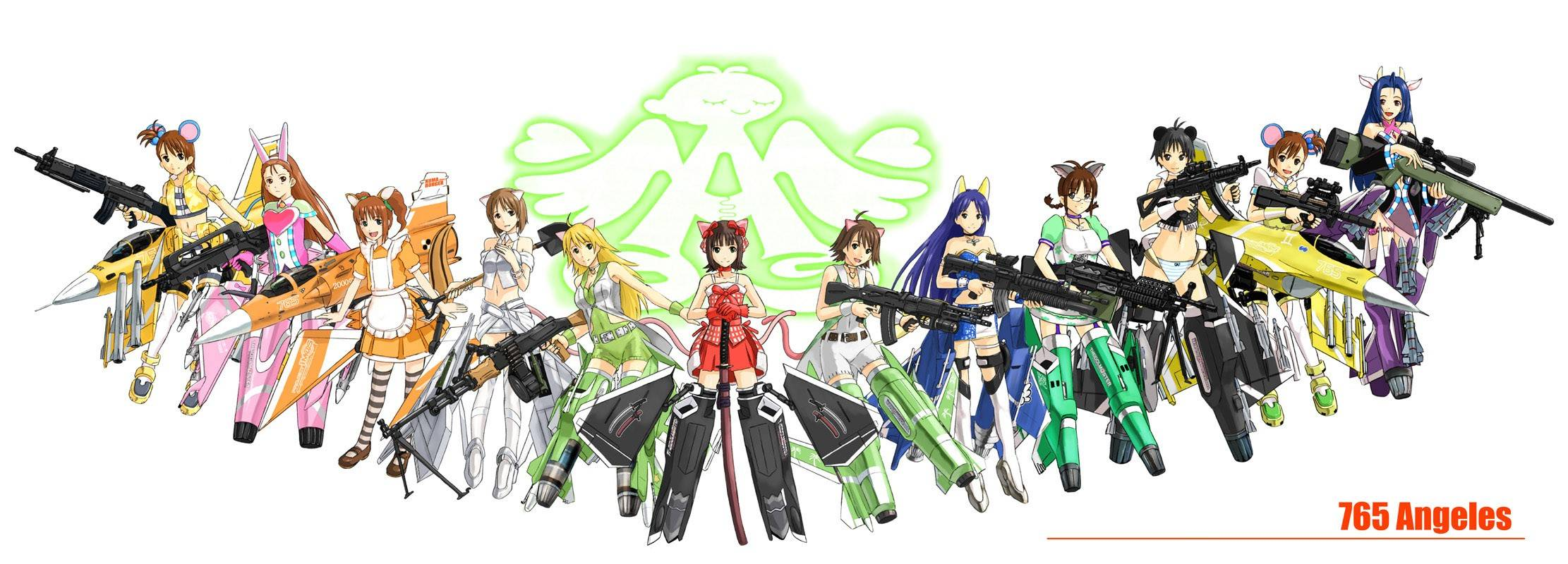 Mecha Musume group - Anime & Manga Wallpaper