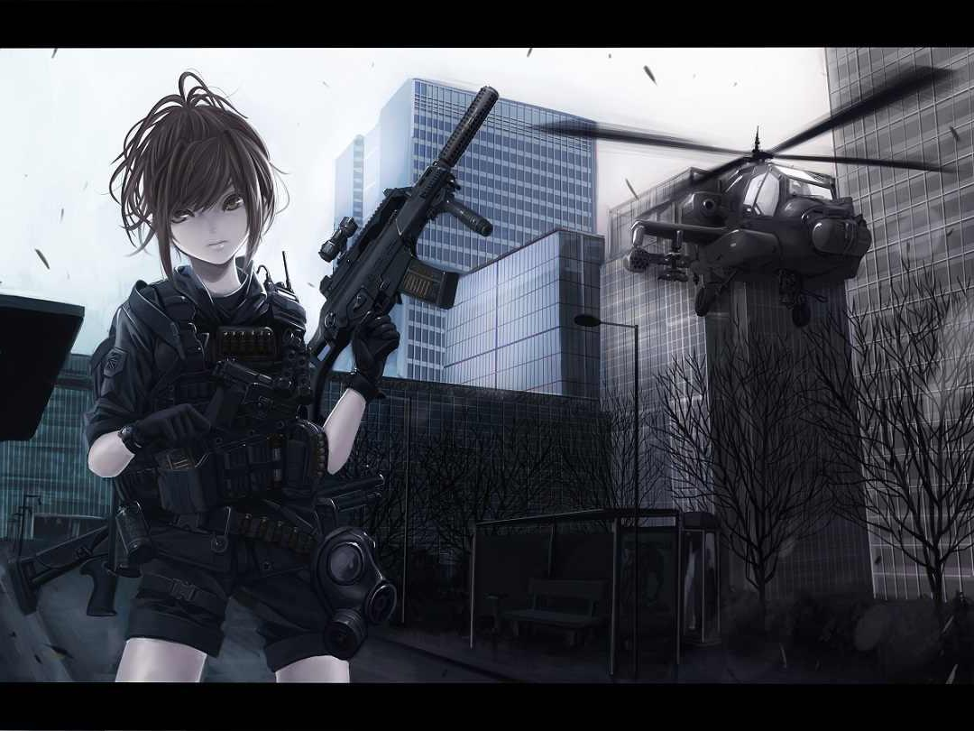 anime gun wallpaper - sf wallpaper