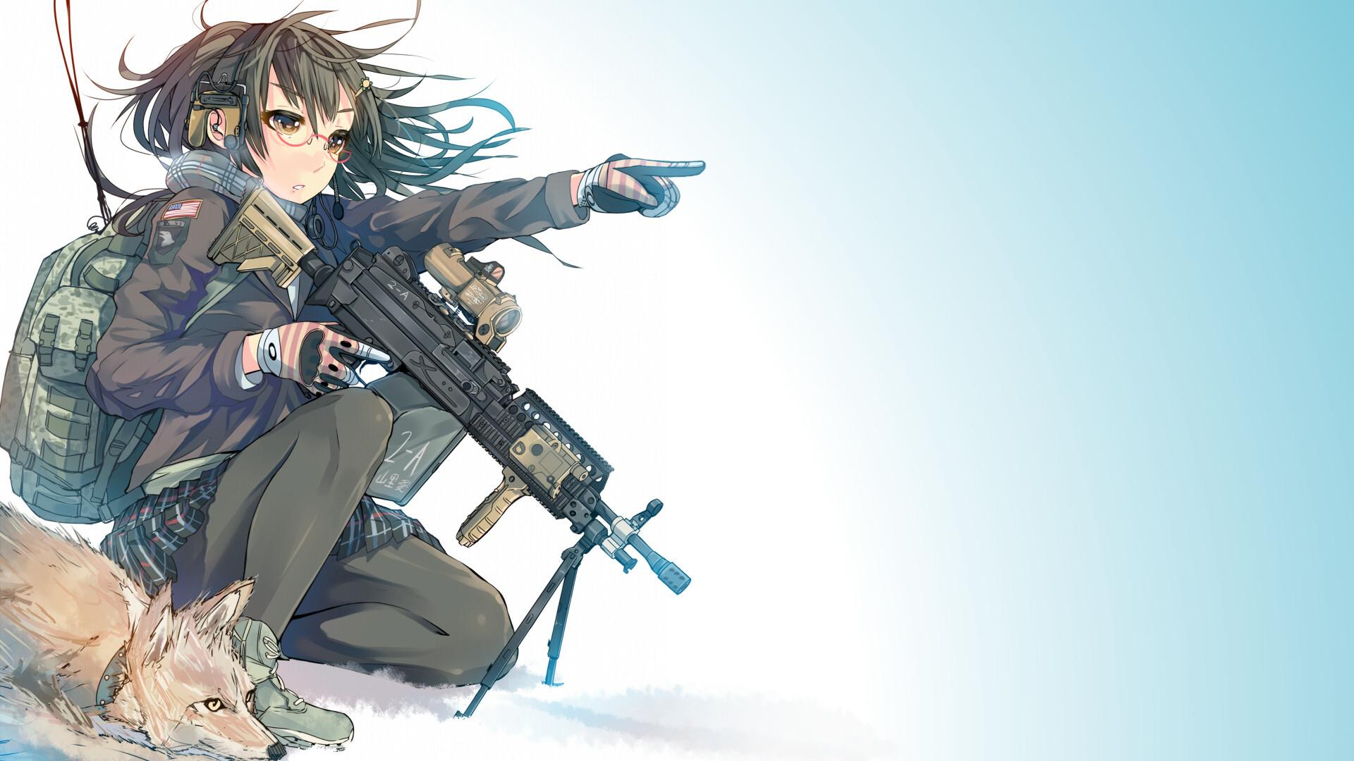 Anime Gril With Gun HD Wallpaper | 1920x1080 | ID:56933