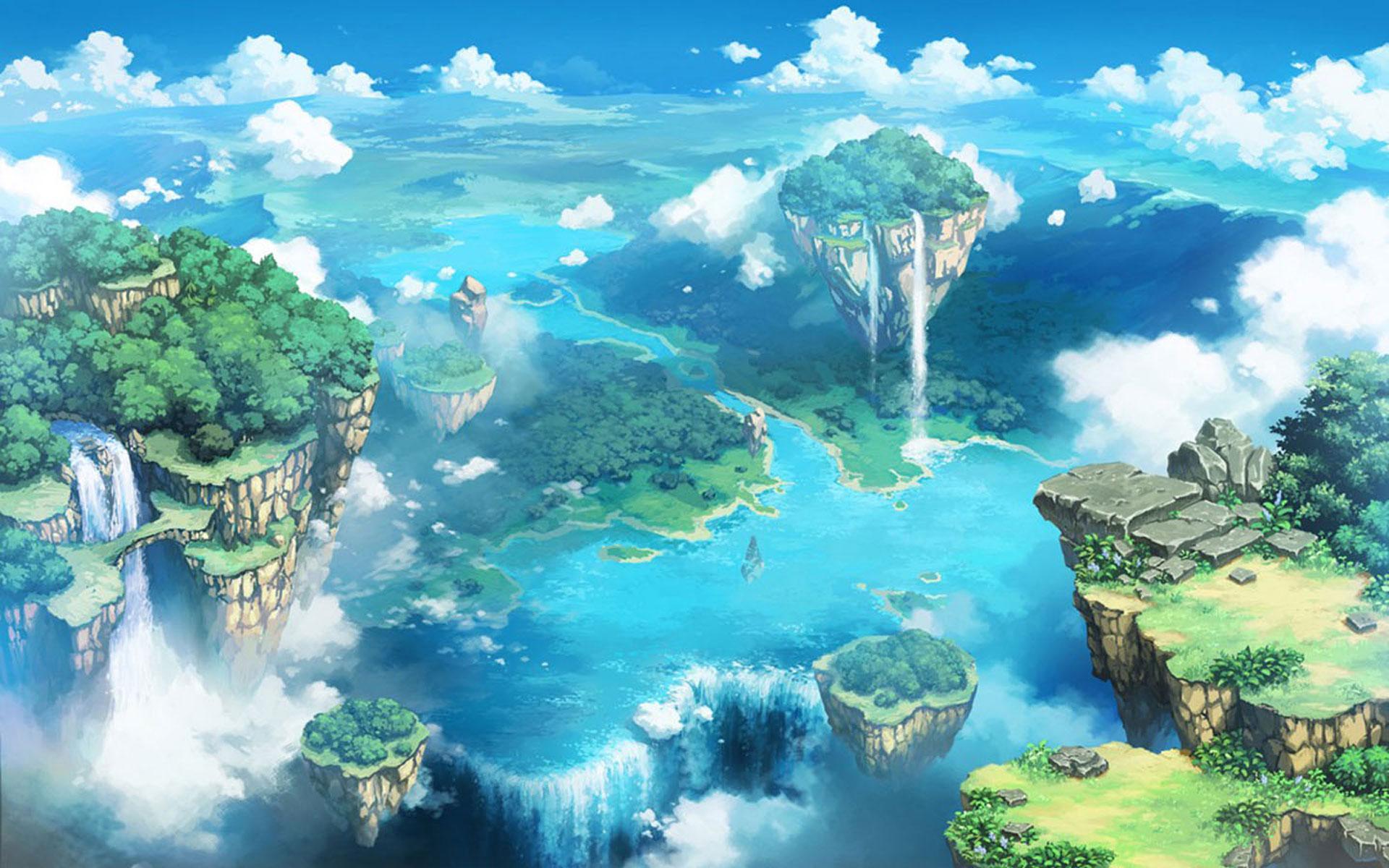 sky anime - Tìm với Google   Cảnh đẹp   Pinterest   Sky, Desktop