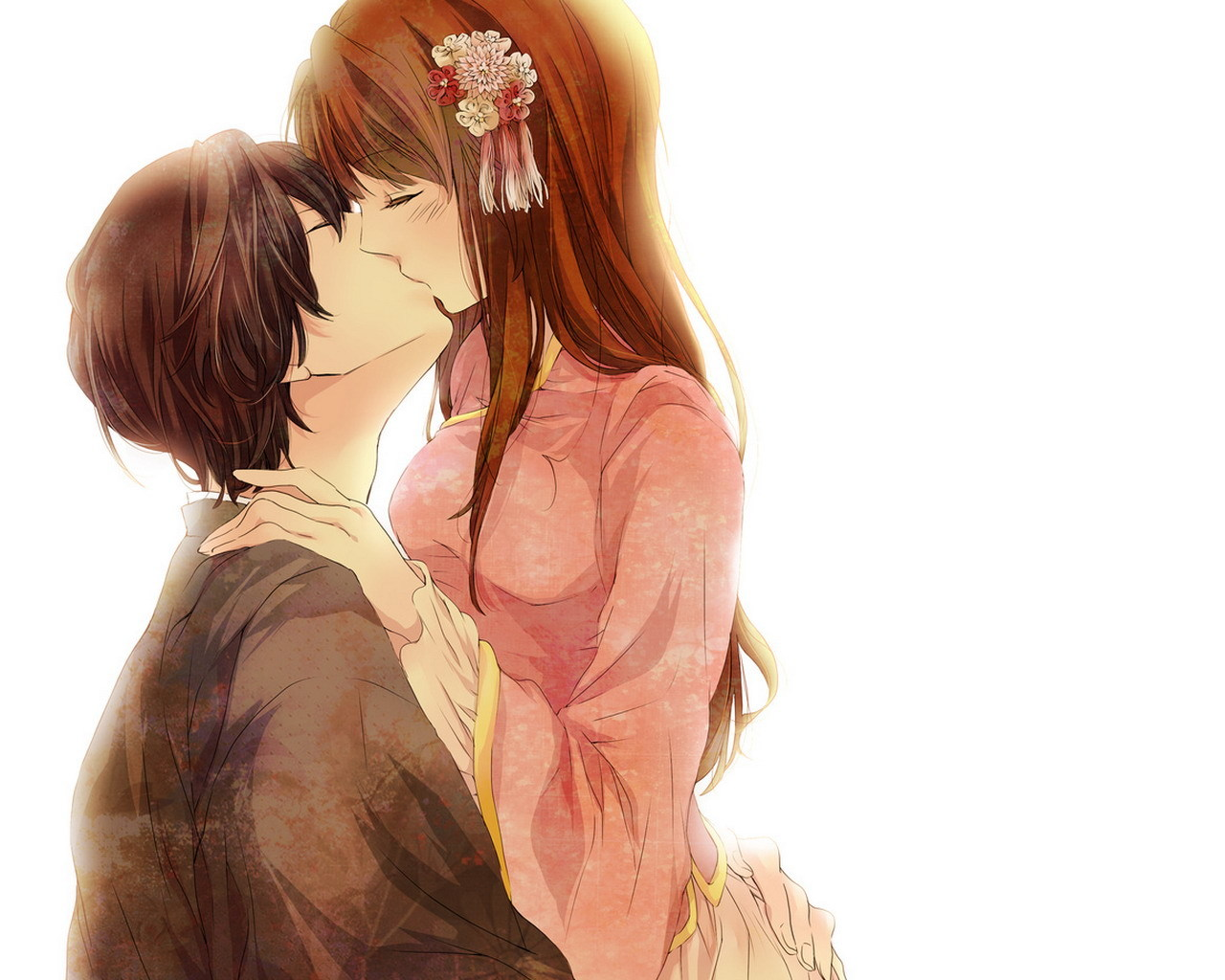 Image - Anime-Love-Couple-Kissing-Wallpaper jpg | Bleach RP Wiki