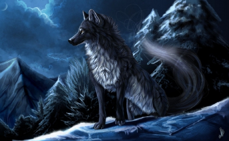 anime wolf wallpaper