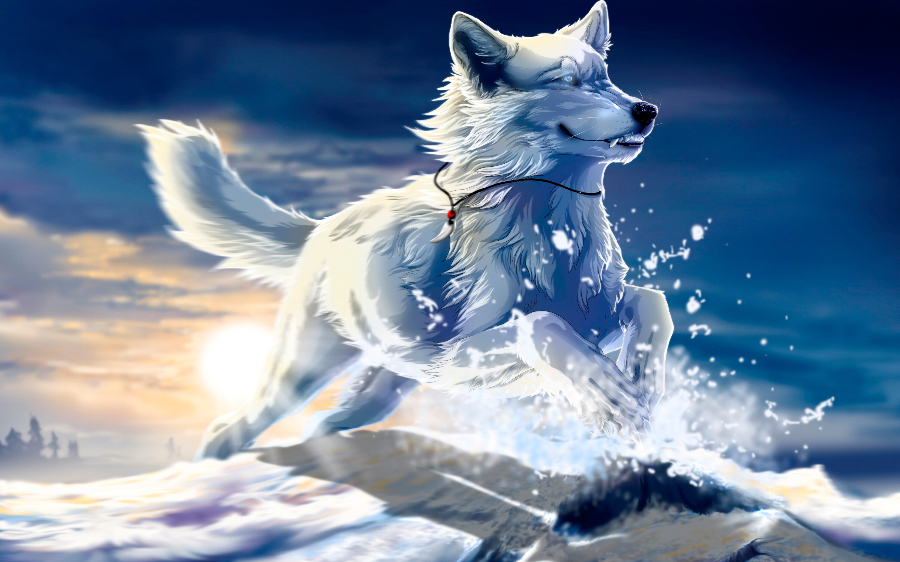 Cool Anime Wolf Wallpapers - WallpaperSafari