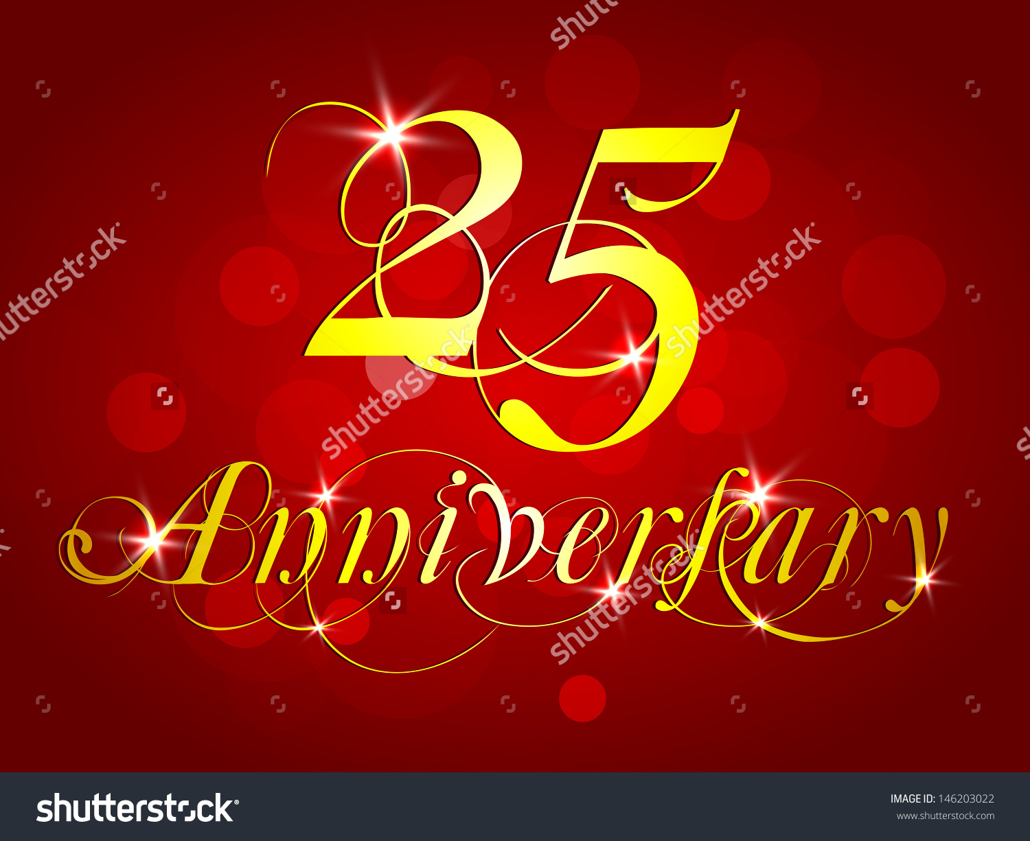 Happy Anniversary Background Stock Vector 146203022 - Shutterstock