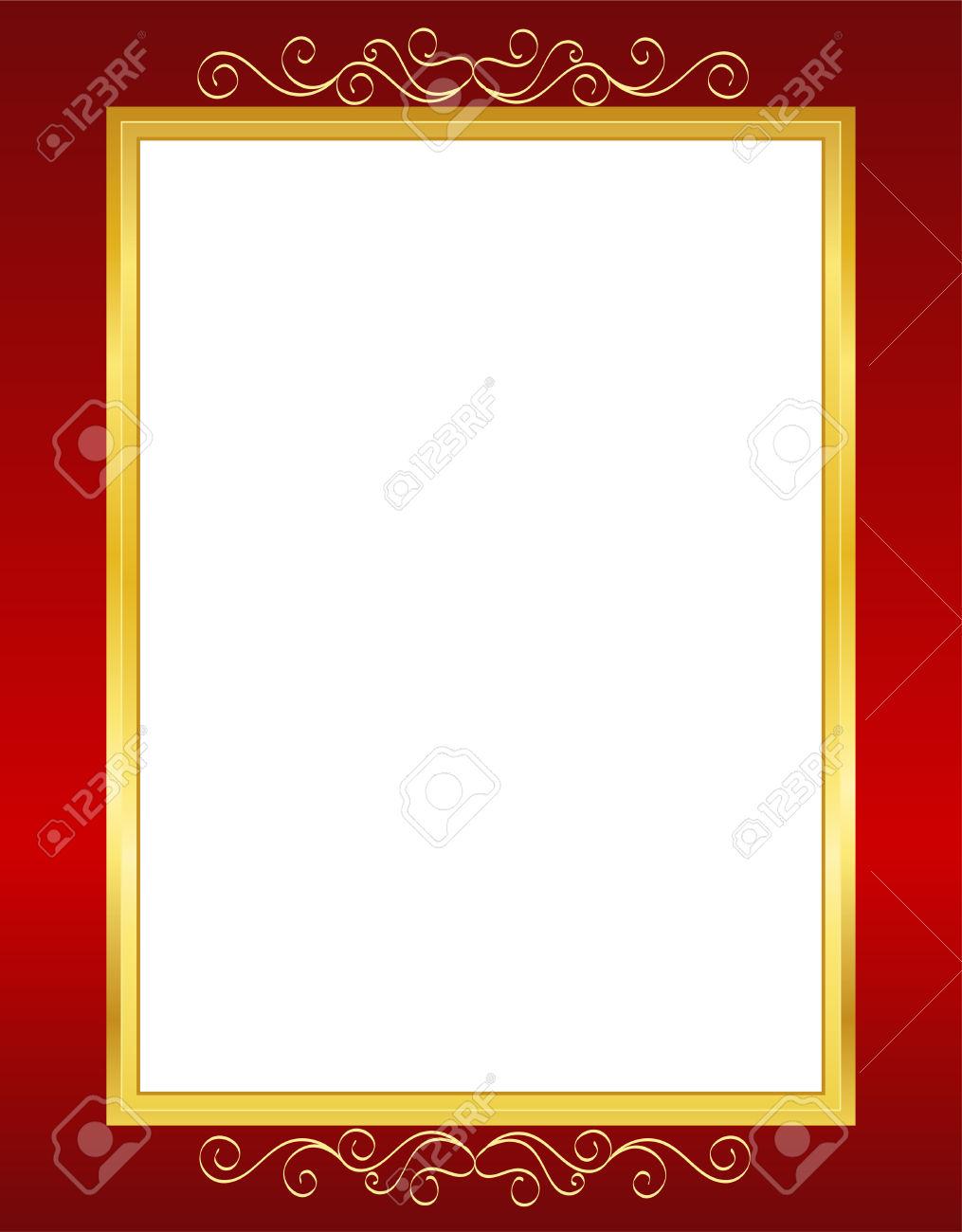 Elegant Wedding Invitation/ Anniversary Background / Frame Design