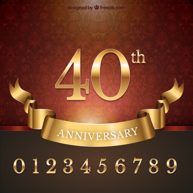 Anniversary background Vector | Free Download