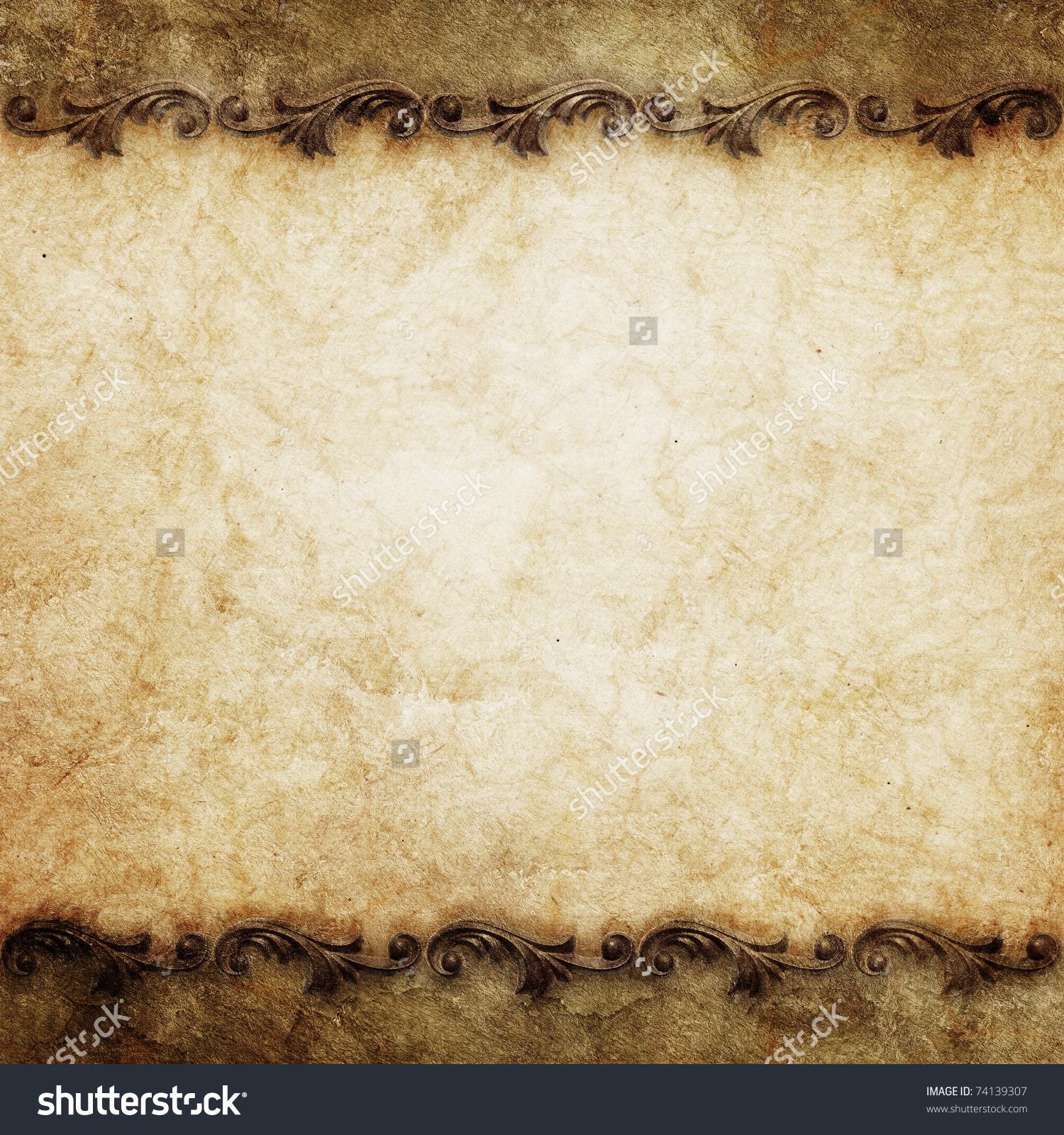 Vintage Background Ornate Frames Stock Illustration 74139307