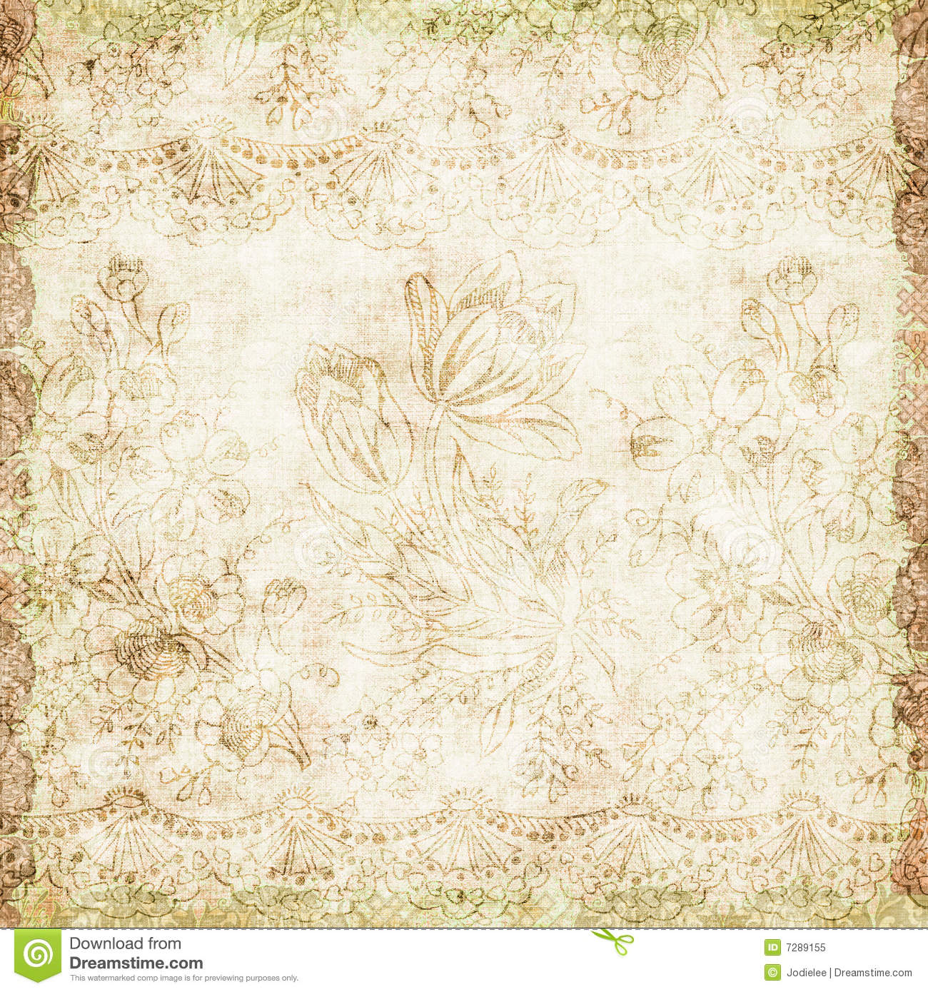 Vintage Floral Antique Background Theme Stock Images - Image: 7293374