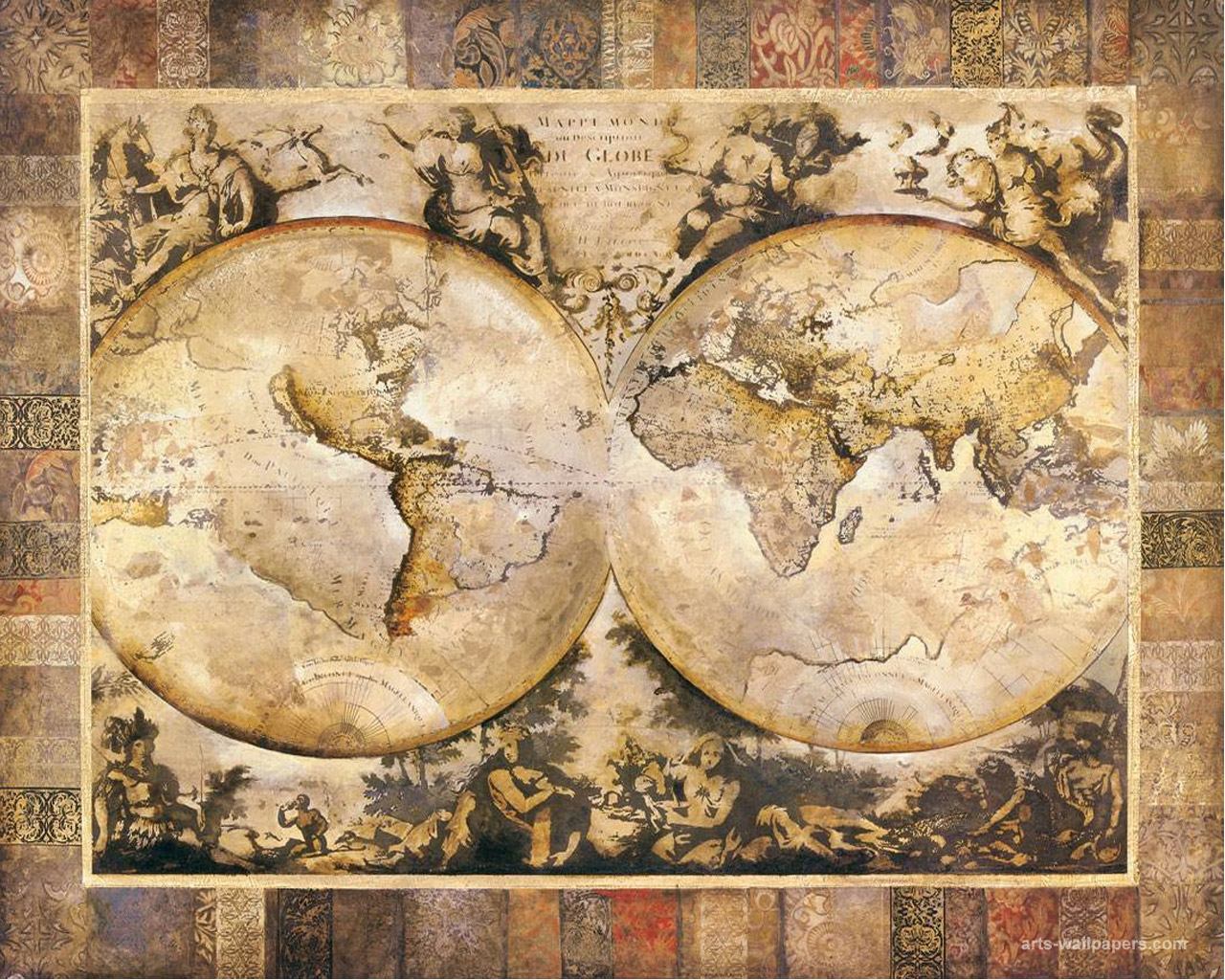 Antique World Map Wallpaper Sf Wallpaper