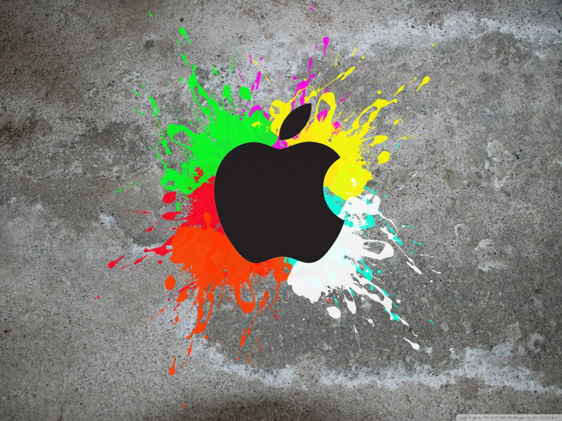 Colorful Apple HD desktop wallpaper : Widescreen : High Definition