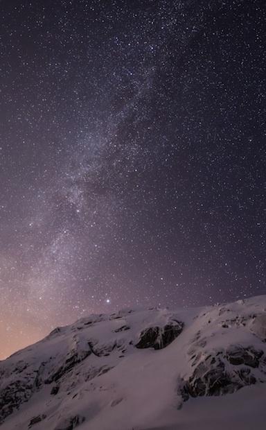 Download the Default iOS 8 Milky Way Wallpaper