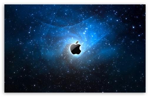 Apple Galaxy Blue HD desktop wallpaper : Widescreen : High