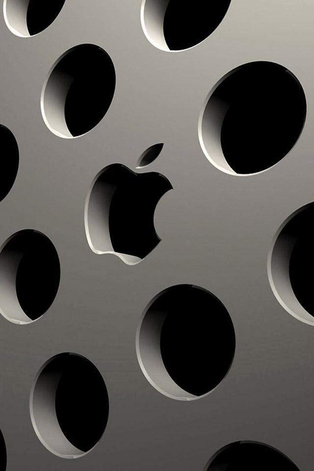 3D Apple Logo iPhone Wallpaper / iPod Wallpaper HD - Free Download