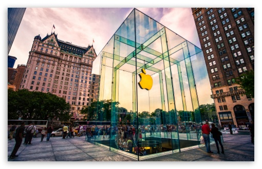 Apple Store NYC HD desktop wallpaper : Widescreen : High