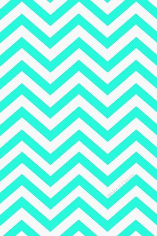 Aqua Blue Chevron Wallpaper
