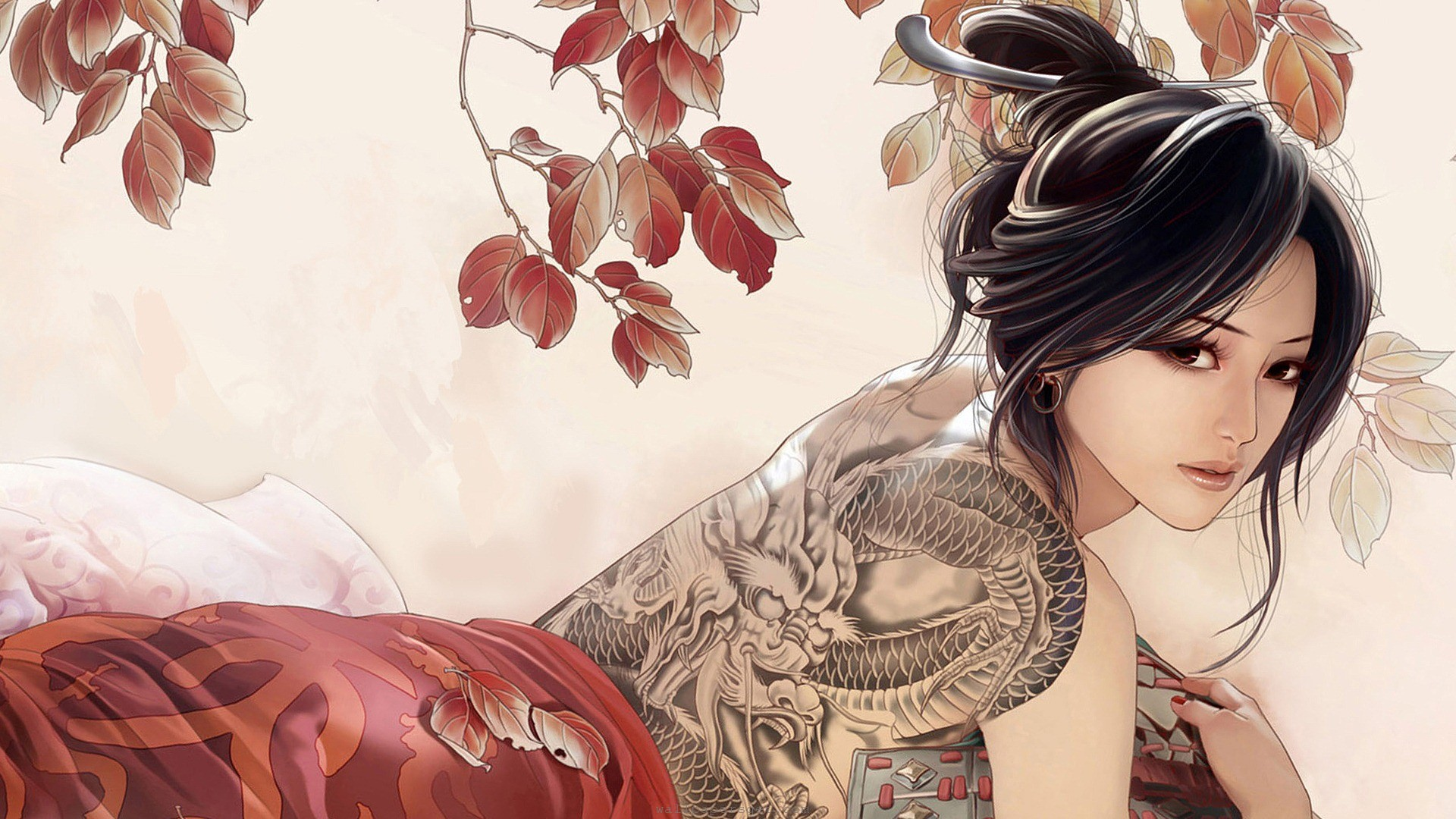 drawings of oriental women | Beautiful wallpapers girl asian