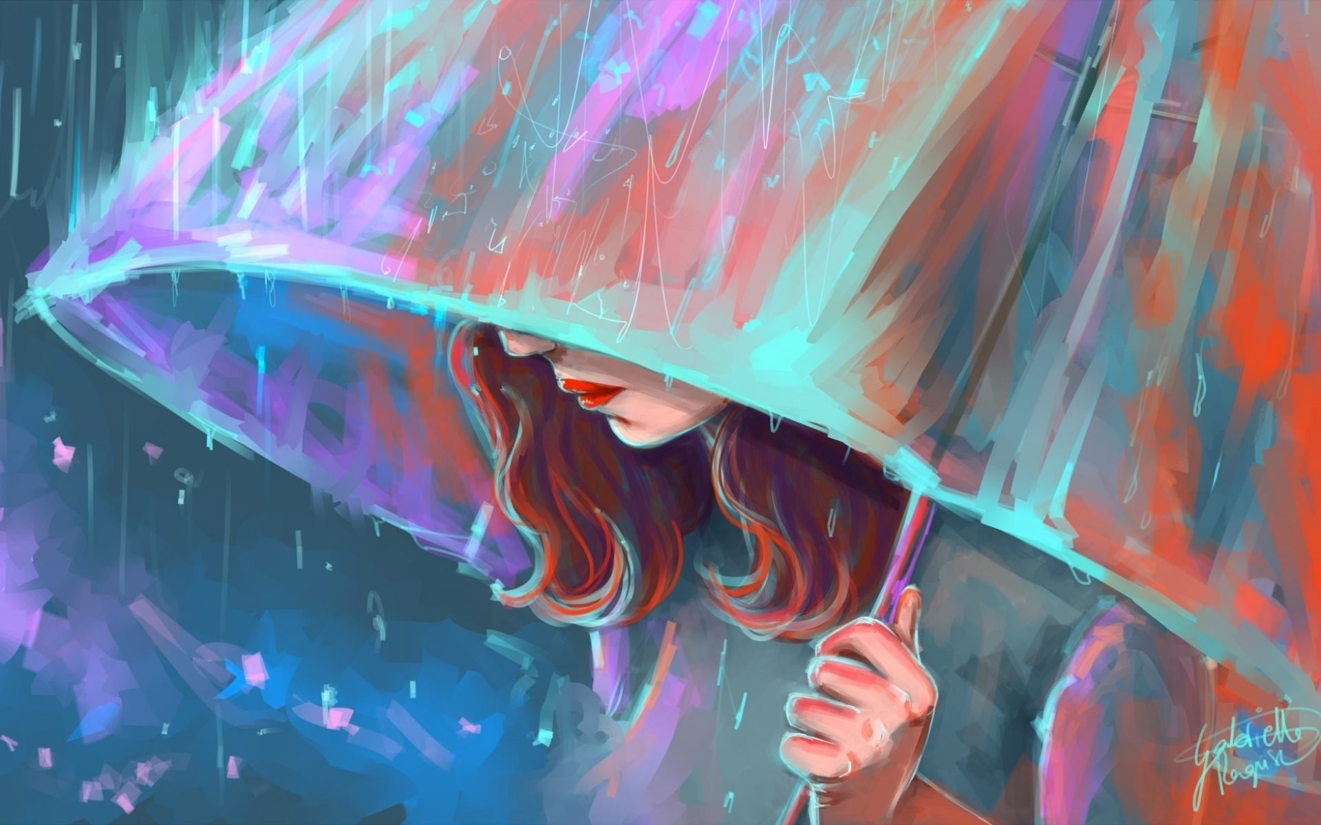 Girl Painting Artistic Art Wallpaper HD Download For Desktop