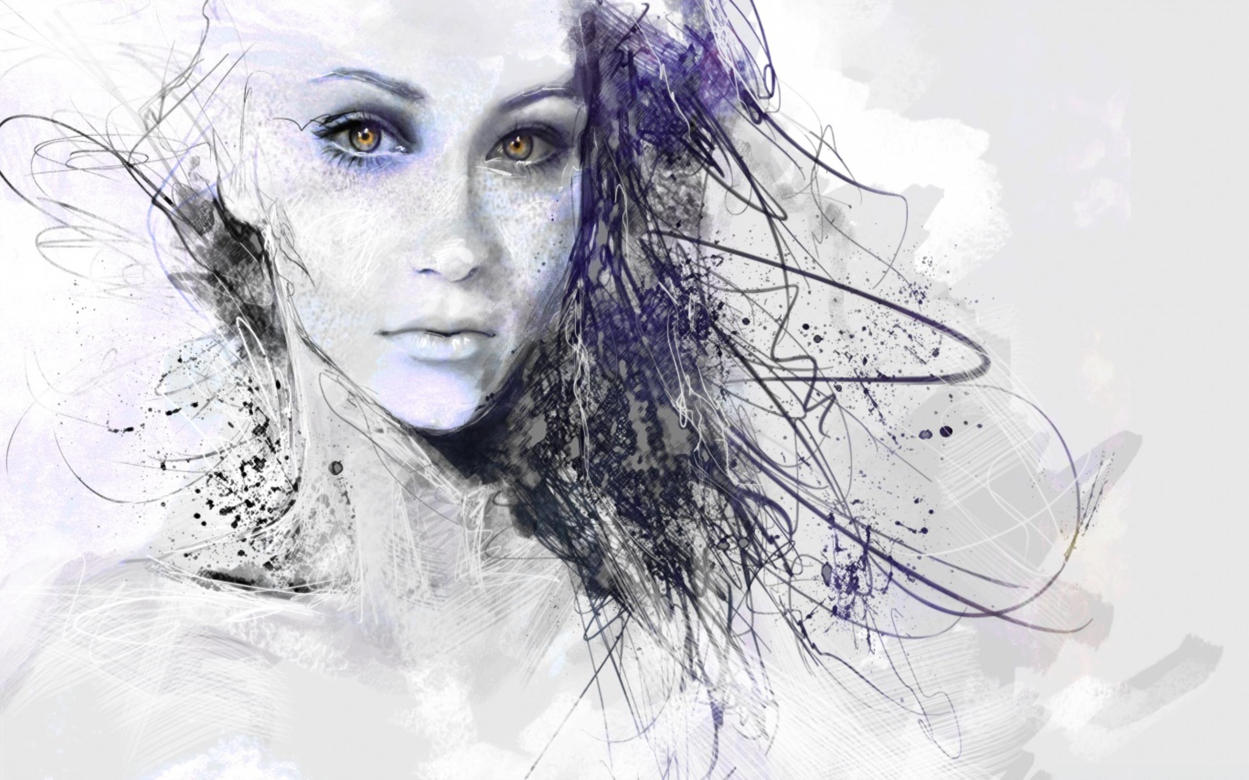 Girl Drawing Art Wallpaper | HD Wallpapers