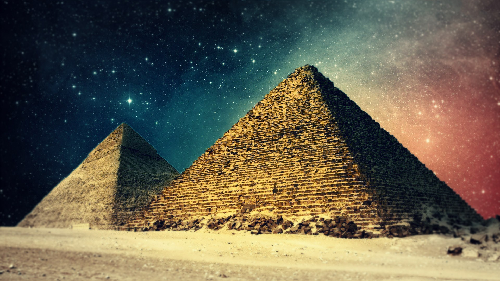 Egypt pyramids art wallpaper | 1920x1080 | #15045